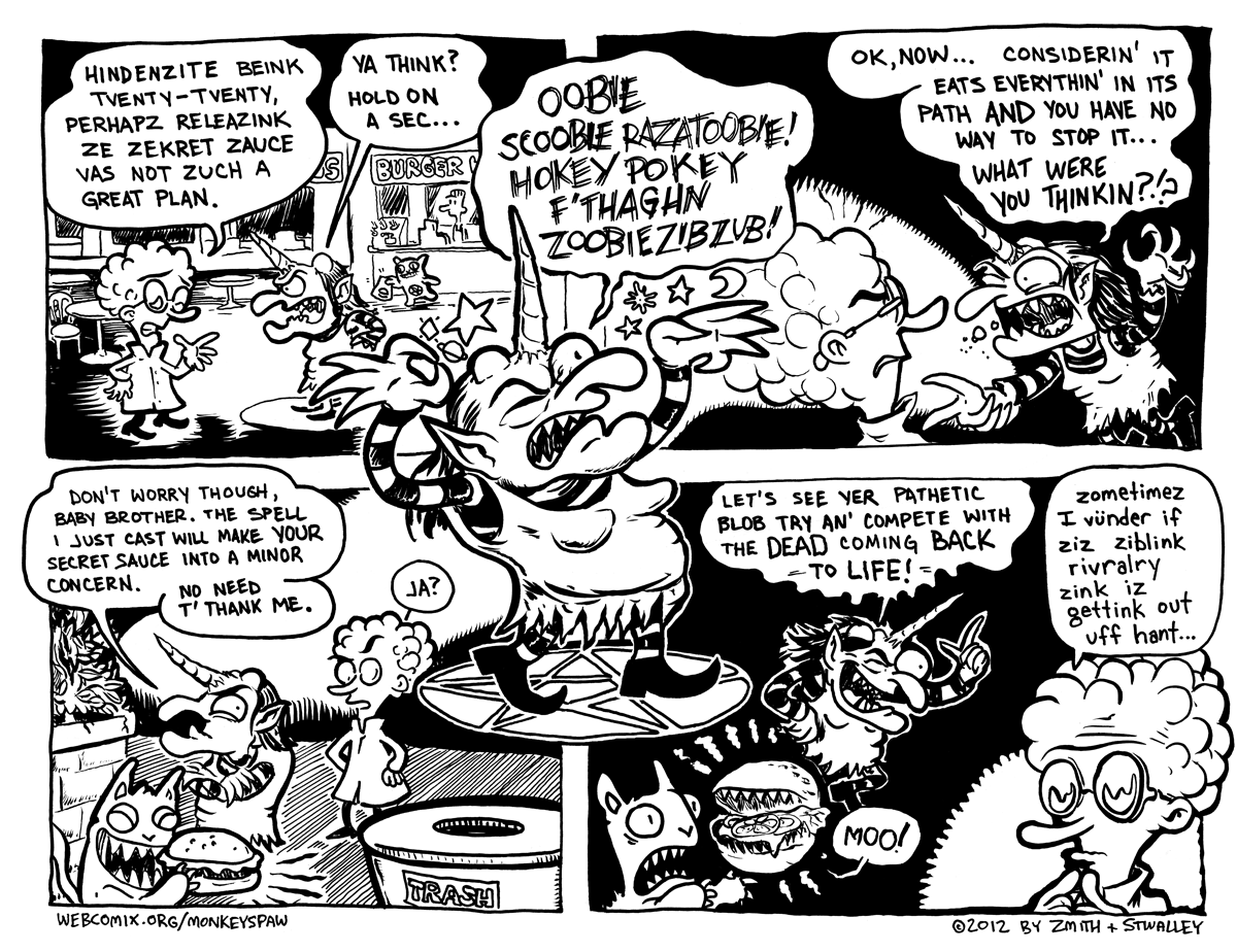 Monkeys Paw Comic 61 by Steve Stwalley and Ben Zmith Food Court of the Living Dead